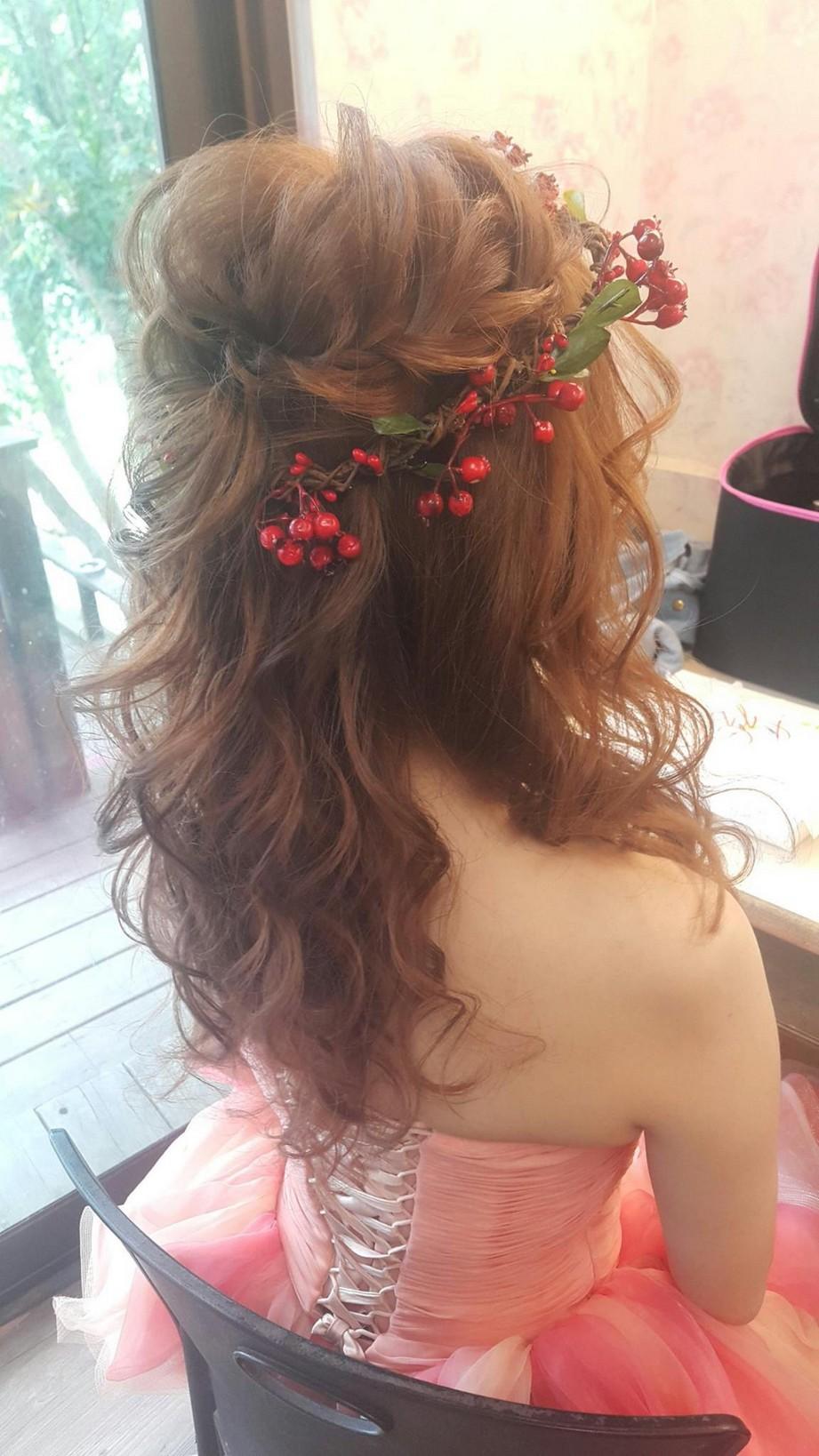 花圈頭飾造型妝髮-台北新秘小葳