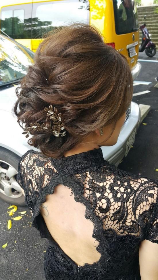 復古造型新娘妝髮-台北新秘小葳