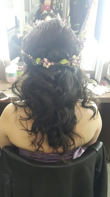 花環頭飾新娘造型-新秘小葳