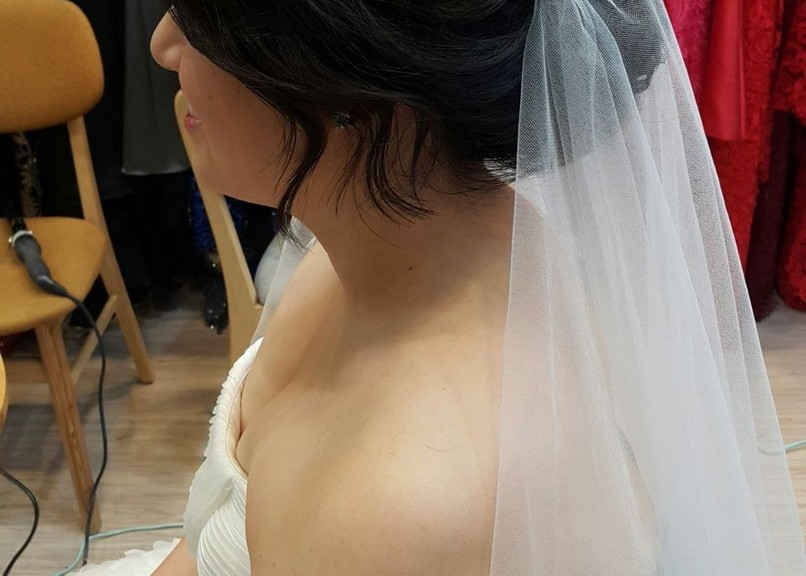 頭紗造型妝髮-台北新秘小葳