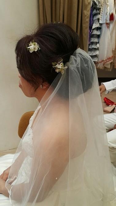 經典頭紗造型-台北新秘小葳