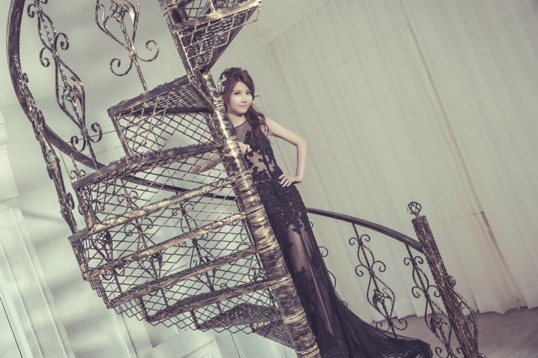黑禮服高貴氣質自助婚紗
